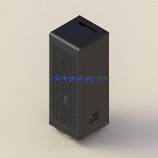 c rack 36u d600 mesh black 1