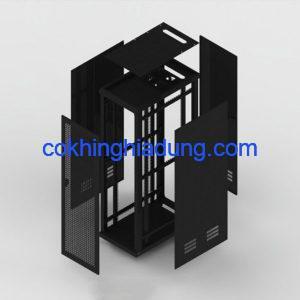 c rack 42u d1000 mesh black 2