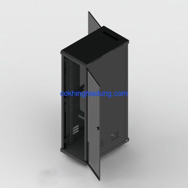 c rack 42u d1000 mesh black 4